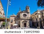 basilica de la merce in gothic... | Shutterstock . vector #718925980