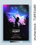 dance party poster template  ... | Shutterstock .eps vector #718931680