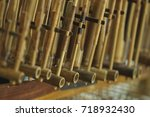 the angklung is a musical... | Shutterstock . vector #718932430