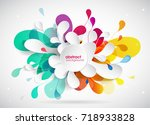 abstract colored flower... | Shutterstock .eps vector #718933828