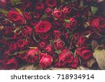 red roses flowers abstract...   Shutterstock . vector #718934914