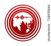 earthquake icon | Shutterstock .eps vector #718935664