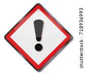 danger hazard and hazardous... | Shutterstock . vector #718936993