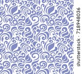 seamless abstract pattern with... | Shutterstock .eps vector #718948036