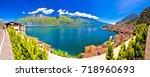 lago di garda panoramic view in ... | Shutterstock . vector #718960693
