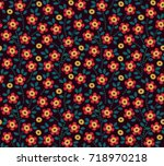 floral background in vintage... | Shutterstock .eps vector #718970218