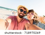 close up portrait of  travel... | Shutterstock . vector #718970269