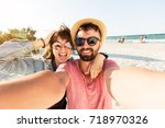 outdoor self portrait of  young ... | Shutterstock . vector #718970326