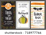 halloween party invitations.... | Shutterstock .eps vector #718977766