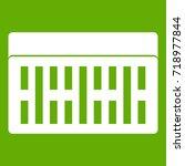 one building brick icon white... | Shutterstock .eps vector #718977844