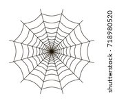 spider web vector icon | Shutterstock .eps vector #718980520