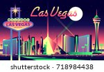 Stock vector las vegas skyline 718984438