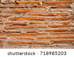 brick wall and mortar of a... | Shutterstock . vector #718985203