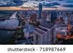 downtown austin  texas during... | Shutterstock . vector #718987669