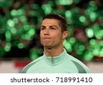 christiano ronaldo of portugal...   Shutterstock . vector #718991410