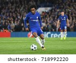 Small photo of LONDON, UK - SEPTEMBER 12, 2017: Willian Borges da Silva pictured during the UEFA Champions League Group C game between Chelsea FC and Qarabag FK at Stamford Bridge.