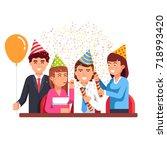 business people men   women... | Shutterstock .eps vector #718993420