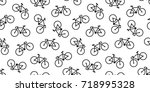 bicycle icon cycling... | Shutterstock .eps vector #718995328