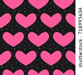 flat line heart pattern vector  | Shutterstock .eps vector #718995634