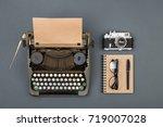 journalist or private detective ... | Shutterstock . vector #719007028