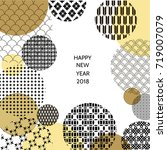 happy new year 2018. template... | Shutterstock .eps vector #719007079