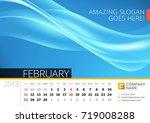 desk line calendar for 2018...   Shutterstock .eps vector #719008288