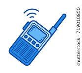 portable radio set vector line... | Shutterstock .eps vector #719010850