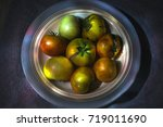 Fresh Harvested Tomatoes On Th...