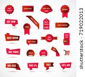 vector stickers  price tag ... | Shutterstock .eps vector #719022013