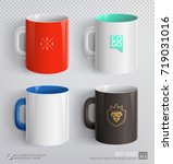 mockup set of corporate ceramic ... | Shutterstock .eps vector #719031016