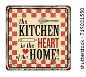 the kitchen is the heart of the ... | Shutterstock .eps vector #719031550