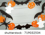 halloween holiday background... | Shutterstock . vector #719032534