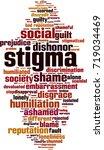 stigma word cloud concept.... | Shutterstock .eps vector #719034469