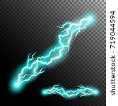 electric discharge. electricity ... | Shutterstock .eps vector #719044594