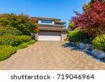garage  garage doors and... | Shutterstock . vector #719046964