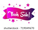 flash sale greeting card | Shutterstock .eps vector #719049670