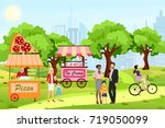 vector illustration in cartoon... | Shutterstock .eps vector #719050099