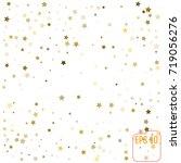 gold stars. confetti... | Shutterstock .eps vector #719056276