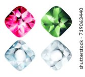 gems isolated on white... | Shutterstock .eps vector #719063440