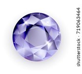 purple stone isolated on a... | Shutterstock .eps vector #719063464