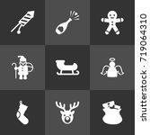set of 9 year icons set...