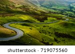 sheep at mam tor  peak district ... | Shutterstock . vector #719075560