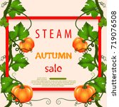 bright banner for autumn sale... | Shutterstock .eps vector #719076508