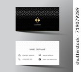 modern business card template... | Shutterstock .eps vector #719079289