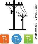 telephone poles icon | Shutterstock .eps vector #719082100
