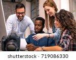 team of colleagues...   Shutterstock . vector #719086330