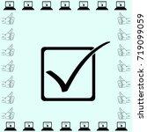 checkbox icon  vector... | Shutterstock .eps vector #719099059