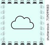 weather icon. cloud  vector... | Shutterstock .eps vector #719099083