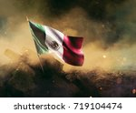 mexican flag standing with... | Shutterstock . vector #719104474