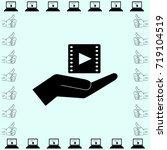 video icon  hand vector... | Shutterstock .eps vector #719104519